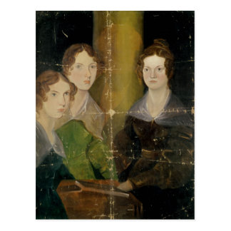 Portrait of the Bronte Sisters, c.1834 Postcard