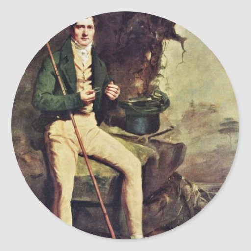 Portrait Of The Bryce Mcmurdo By Raeburn Sir Henry Round Stickers