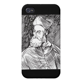 Portrait of the cardinal Pietro Bembo by Tiziano iPhone 4/4S Cases