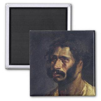 Portrait of the Carpenter of 'The Medusa' Square Magnet
