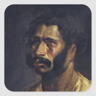 Portrait of the Carpenter of 'The Medusa' Square Sticker