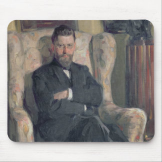 Portrait of the collector Alexei A. Bakhrush Mouse Mat