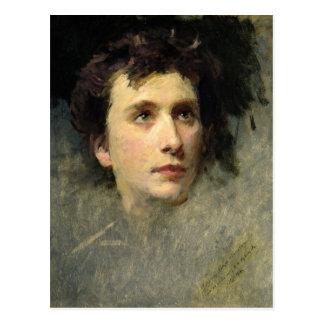 Portrait of the composer Pyotr Ilyich Postcard