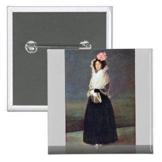 Portrait Of The Comtesse Del Carpio 15 Cm Square Badge