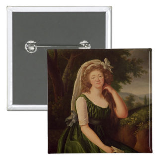Portrait of the Countess du Barry  1789 15 Cm Square Badge