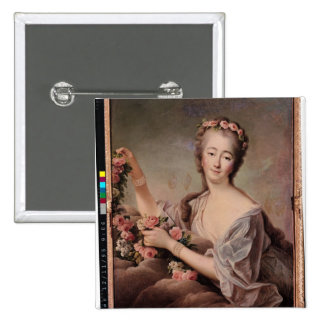 Portrait of the Countess du Barry  as Flora 15 Cm Square Badge