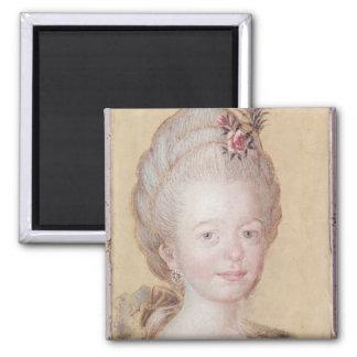 Portrait of the daughter of Carl Linnaeus Square Magnet