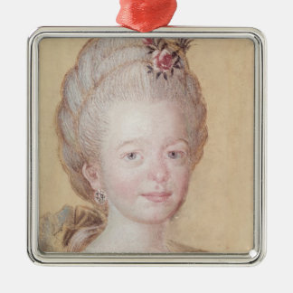 Portrait of the daughter of Carl Linnaeus Silver-Colored Square Decoration