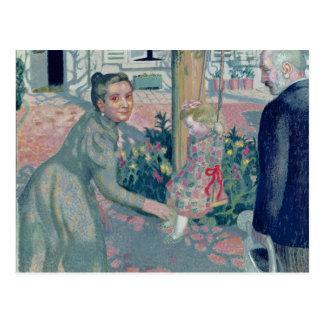 Portrait of the Denis Grandparents, 1899 Postcard