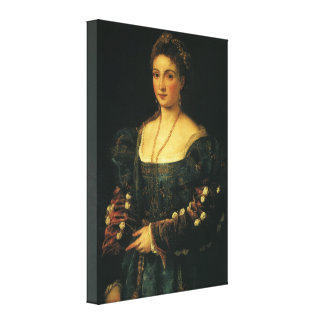 Portrait of the Duchess of Urbino by Titian Stretched Canvas Print