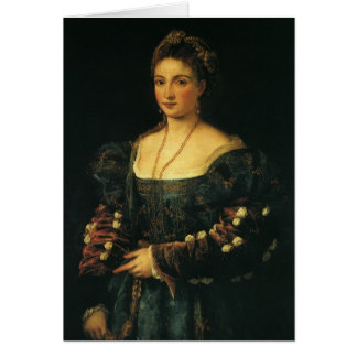 Portrait of the Duchess of Urbino by Titian Greeting Cards
