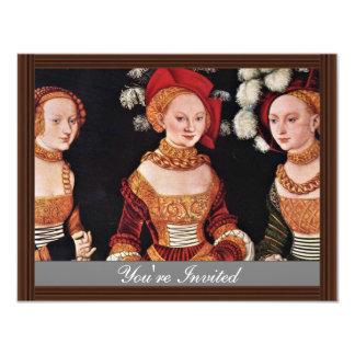 Portrait Of The Duchesses Emilla Sybille Von Sachs Personalized Invite