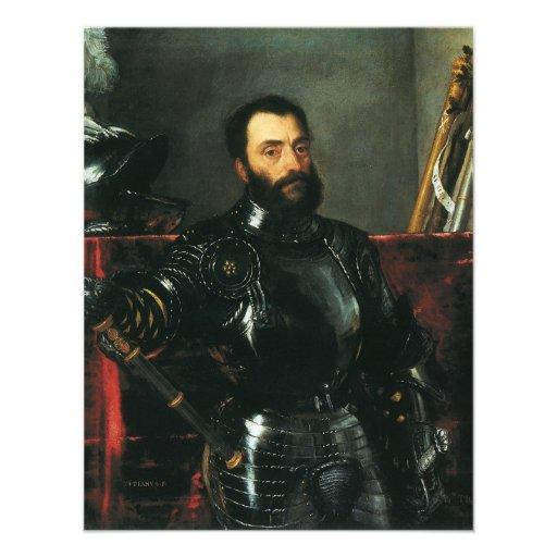Portrait of the Duke of Urbino by Titian Personalized Invite