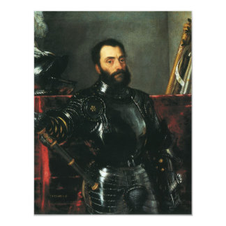 Portrait of the Duke of Urbino by Titian 11 Cm X 14 Cm Invitation Card