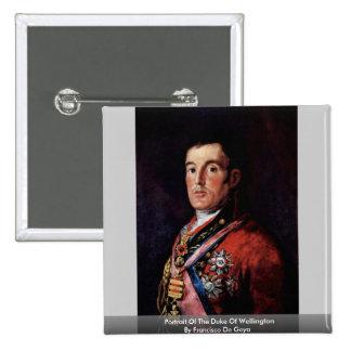 Portrait Of The Duke Of Wellington 15 Cm Square Badge