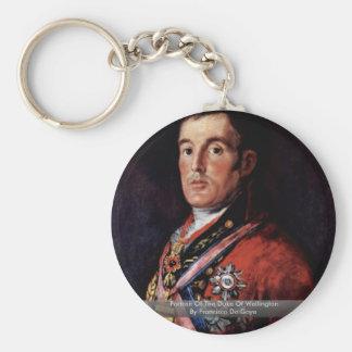 Portrait Of The Duke Of Wellington Key Chains
