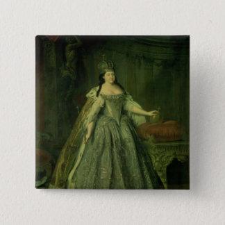 Portrait of the Empress Anna Ivanovna  1730 15 Cm Square Badge