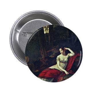 Portrait Of The Empress Josephine By Prud'Hon Pier 6 Cm Round Badge