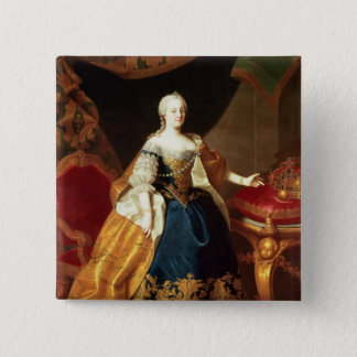 Portrait of the Empress Maria Theresa 15 Cm Square Badge