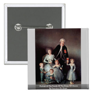 Portrait Of The Family Of The Duke Of Osuna 15 Cm Square Badge