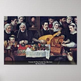 Portrait Of The Family Van Berchem By Floris Frans Poster