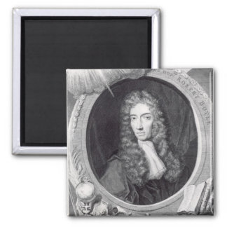Portrait of the Honorable Robert Boyle Square Magnet