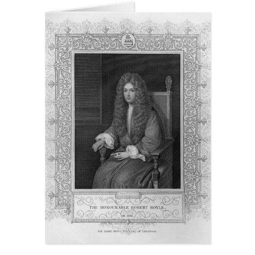 Portrait of The Honourable Robert Boyle Greeting Card