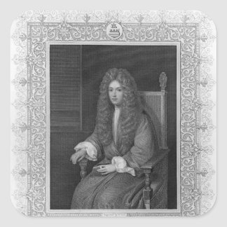 Portrait of The Honourable Robert Boyle Square Sticker
