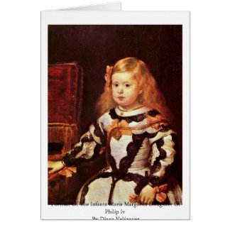 Portrait Of The Infanta Maria Margarita Cards