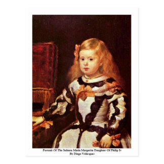 Portrait Of The Infanta Maria Margarita Post Card