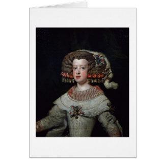 Portrait of the Infanta Maria Teresa (1638-83) fut Card