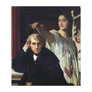 Portrait of the Italian Composer Cherubini Canvas Print