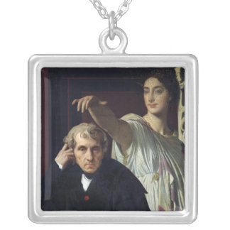 Portrait of the Italian Composer Cherubini Silver Plated Necklace