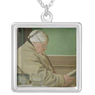 Portrait of the Judge Jacob Wilder, 1819 Silver Plated Necklace