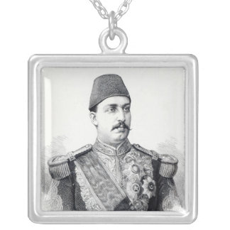Portrait of The Khedive Tawfig Silver Plated Necklace