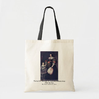 Portrait Of The Lady Of Charlotte Butkens Anoy Canvas Bag