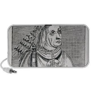 Portrait of the Last Inca Chief, Atahualpa Mini Speakers
