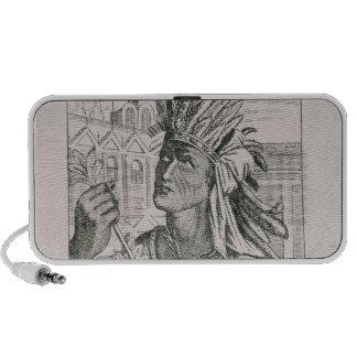 Portrait of the Last Inca Chief Atahualpa iPhone Speaker
