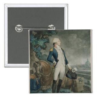 Portrait of the Marquis de La Fayette 15 Cm Square Badge