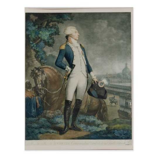 Portrait of the Marquis de La Fayette Postcard