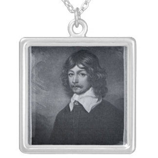 Portrait of the Marquis of Newcastle Silver Plated Necklace