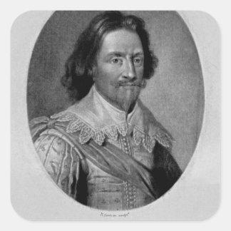 Portrait of The Marquis of Vieu Ville Square Sticker