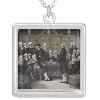Portrait of the Medical Society Members of Silver Plated Necklace