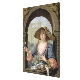 Portrait of the Mistress of the Artist M.C Canvas Print
