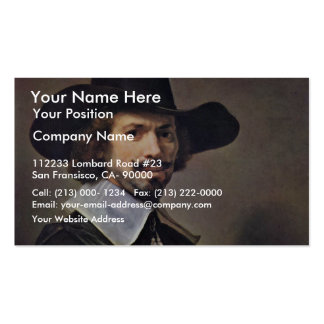 Portrait Of The Painter Hendrick Martenszoon. Business Cards