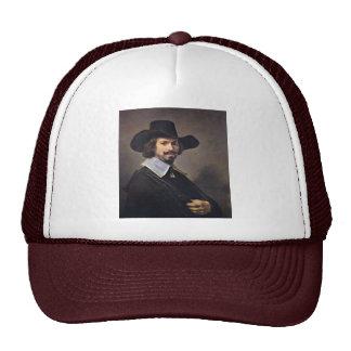 Portrait Of The Painter Hendrick Martenszoon. Mesh Hats