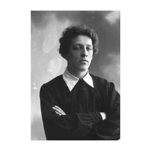 Portrait of the poet Alexander Blok Gallery Wrap Canvas