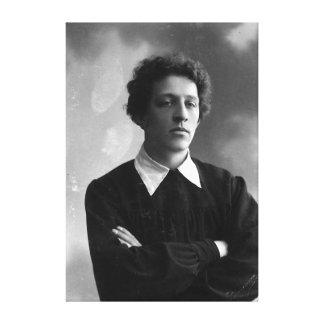 Portrait of the poet Alexander Blok Stretched Canvas Prints
