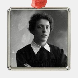 Portrait of the poet Alexander Blok Silver-Colored Square Decoration
