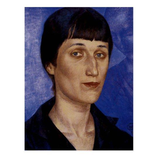 Portrait of the Poet Anna Akmatova Postcard